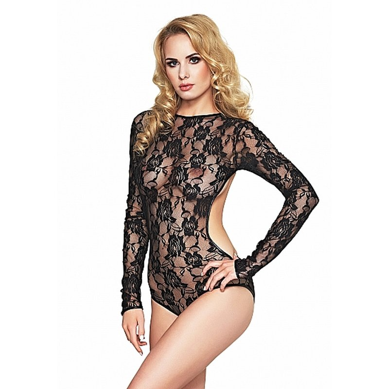Image of Lace Long Sleeve Body Schwarz S | 7 Heaven